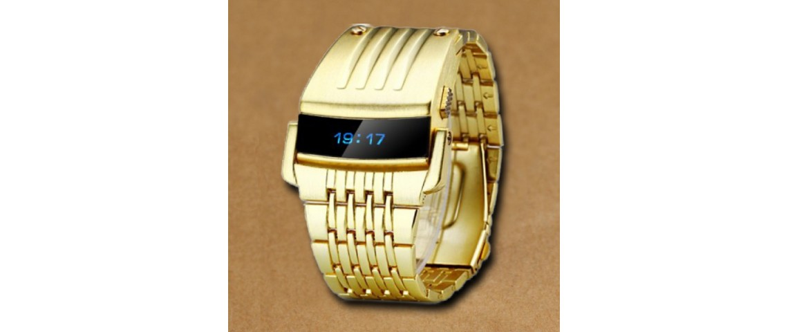 Gold Iron Watch