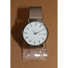 Silver White Face Ultra Thin Watch