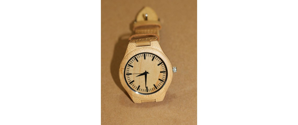 Bamboo Wood Watch with Plain Face